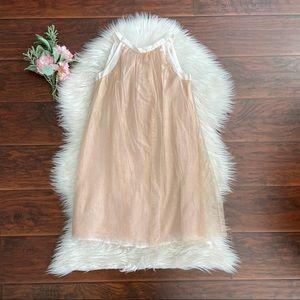 Bonpoint Rosegold Tulle Big Girl Dress